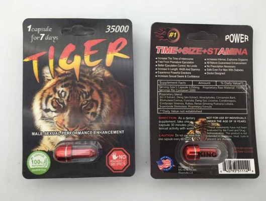 China Tiger 35000 Penis Enlargement Capsules Effective Sex Pills For Men Enlarging Penis Male Herb Ingredient 3 Years supplier