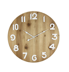 Living Room Rustic Wooden Round Decorative Retro Wall Clock Wood Fashion Wooden Wall Clock