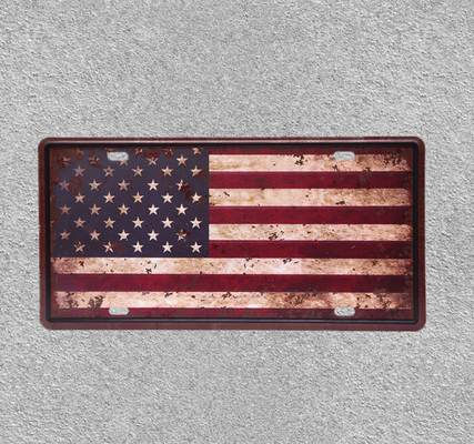 China USA National Flag Iron Sign Decorative Bar Cafe Shop Painting Plaque Sticker Wall Poster Metal Plate supplier