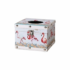 China Wooden Flamingo Tissue Box Holder Cube for Car Kitchen Bathroom Bar Hotel supplier
