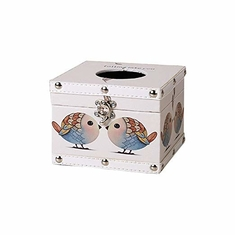 China Cube Wooden Tissue Box Vintage Tissue  Holder for Car Office Kitchen Bathroom Decor supplier