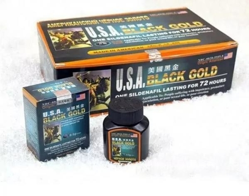 USA Black Gold Herbal Male Sexual Stimulant Pills Fast Acting Rock For Strengthen Body / Consolidate Sperms