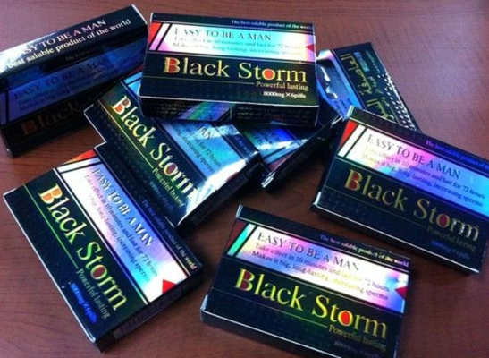 Black Storm 8000mg Male Sex Pills Herbal Sexual Drug Erection With 3 Years Shelf Time