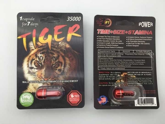 Tiger 35000 Sexual Enhancement Pill 3D Male Herb Ingredient 3 Years Guarantee