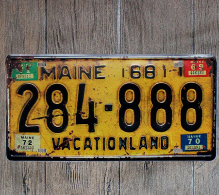 Car License Plate Retro Metal Tin Sign Bar\Pub\Hotel Decorative Metal Sign Art Painting Metal Plaque