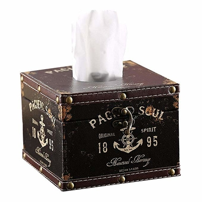 Anchor Sailor Circular Tissue Box Luxurious Box Europe Style Napkin Tissue Holder