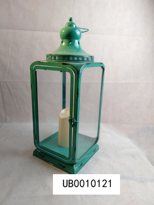 Home Decoration Led Metal Candle Lantern With Flichering 21*21*51cm Size