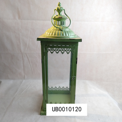 Green Antique Wedding Lanterns Vintage Candle Lantern Metal Holder