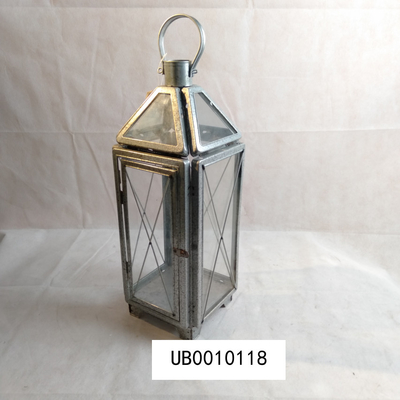 Modern Outdoor Decorative Candle Lantern Metal Iron Glass Candle Lantern Holder