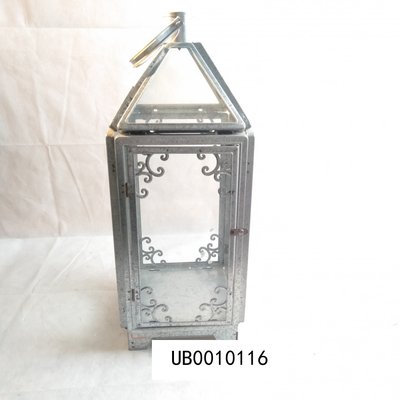 Candle Shape Metal Waterproof LED Solar Lantern Light Rechargeable For Patio Courtyard Garden