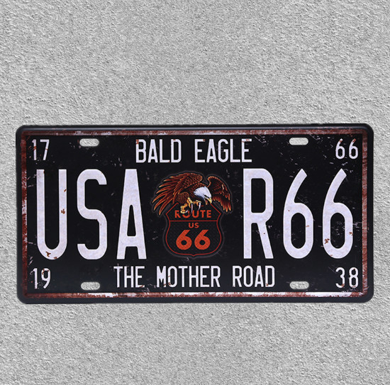 570 WEF Car Metal License Plate Tin Poster Decorative Bar Garage Cafe Wall Ornaments Poster
